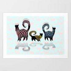 CASHMERE CATS Art Print