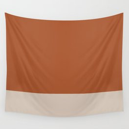 Minimalist Solid Color Block in Clay and Putty Wall Tapestry
