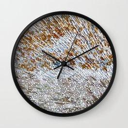 Rusty Blocks Wall Clock