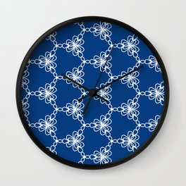 Pattern lace vector Wall Clock