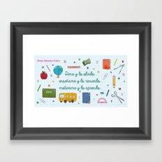 ECOLE Framed Art Print