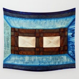 Turquoise - blue inlay Wall Tapestry