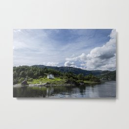 Living in a fjord Metal Print