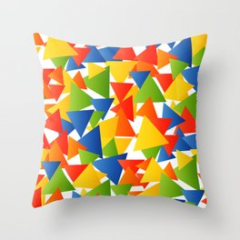 Triangle storm Throw Pillow
