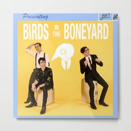 Birds in the Boneyard: Album Cover Metal Print