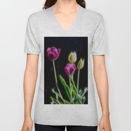 Tulips Brillant Fibers Unisex V-Neck