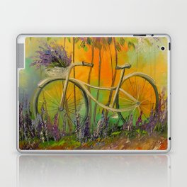 White Bicycle Laptop & iPad Skin