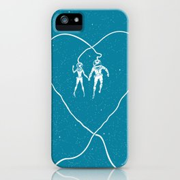 Love Space, Blue iPhone Case