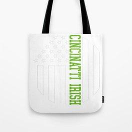 Cincinnati Irish graphics by Howdy Swag design Tote Bag