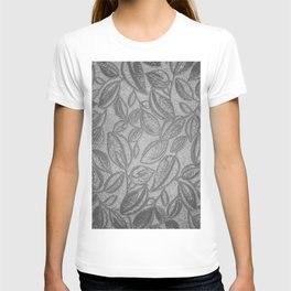 Floral Pattern, Love Nature, Grey T-shirt