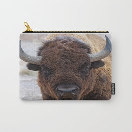 In The Presence Of Bison 2  Carry-All Pouch