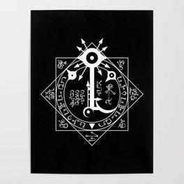 Invisible Sun Symbol on Black Poster