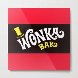 Wonka's Bar Chocolate Metal Print
