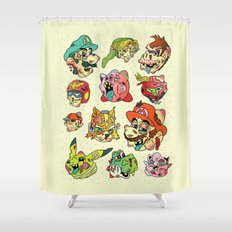 Smashed Bros. Shower Curtain