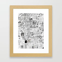 mashup Framed Art Print