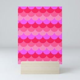 Scalloped Confetti in Neon Coral Reef Mini Art Print