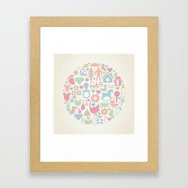Baby a sphere Framed Art Print
