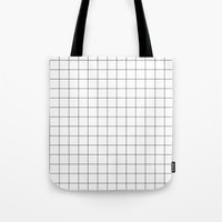 grid Tote Bags featuring grid by 550am