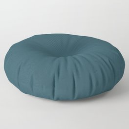 Fanciful Dark Turquoise Blue Green Solid Color Pairs To Sherwin Williams Moscow Midnight SW 9142 Floor Pillow