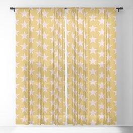 Stars Pattern 23 Sheer Curtain
