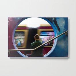 The subway man Metal Print