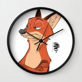 NICK WILDE Wall Clock