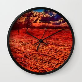 Texas Sand Box - Colored Graphic Wall Clock