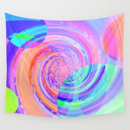 Re-Created Twisters No. 7 by Robert S. Lee Wall Tapestry