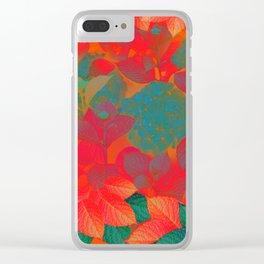 """Intense Pastel Hydrangeas-Passion"" Clear iPhone Case"