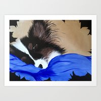 gizmo Art Prints featuring Gizmo  by Gizzy MoMo