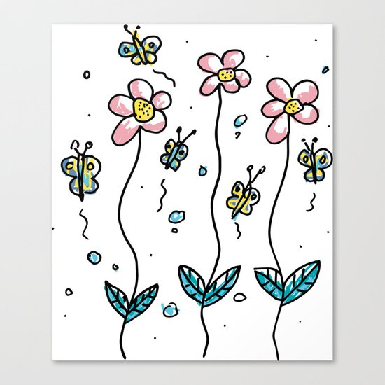 minimal flower Canvas Print