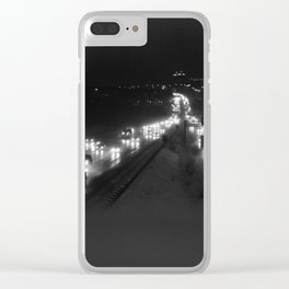 A snowy highway, the 401 at night Clear iPhone Case