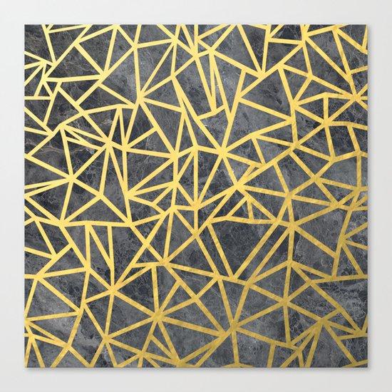 Ab Marb Gold Canvas Print
