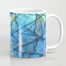 Royal Labradorite Crystal Agate Gemstone Print Coffee Mug