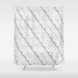 White Ribbon Shower Curtain
