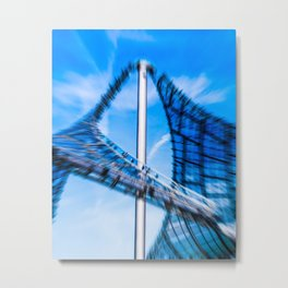 Roof of the olympic center Munich Metal Print