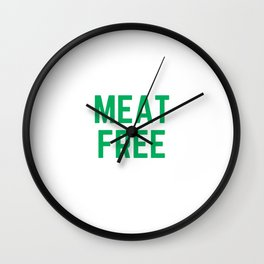 MEAT FREE Wall Clock