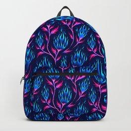 Fire Flower - Blue Pink Backpack
