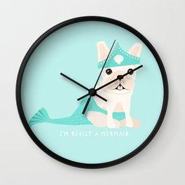 French Baconator Lily the Mermaid Wall Clock