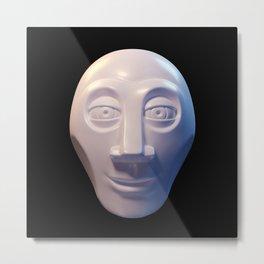 Alien-human hybrid head Metal Print