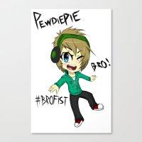 pewdiepie Canvas Prints featuring PEWDIEPIE! by Mindlesspeanutbutter