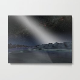992. Alien Asteroid Belt Compared to our Own Artist Concept Metal Print