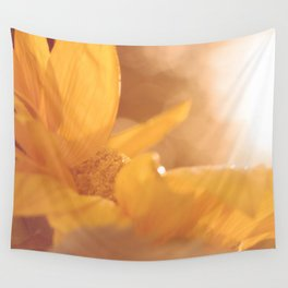 Sun Flare Sunflower Wall Tapestry