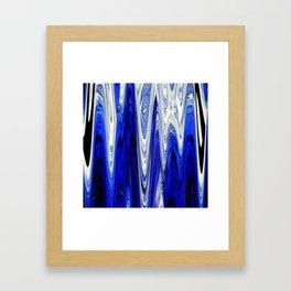 Zigzag Cobalt Blue Framed Art Print