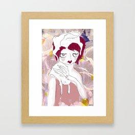 RABBIT GIRL Framed Art Print