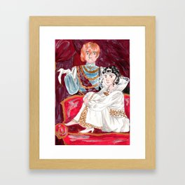 Cenerentola and prince Framed Art Print