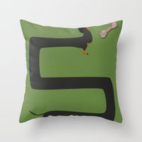 dachshund Throw Pillows featuring Dachshund by Yzabelle Wuthrich