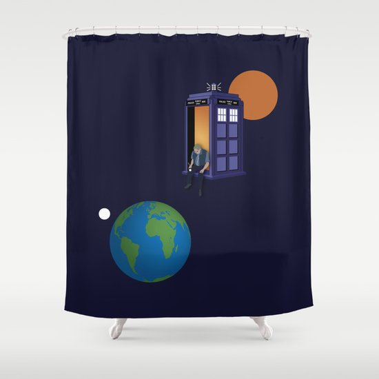 A WhoView Shower Curtain