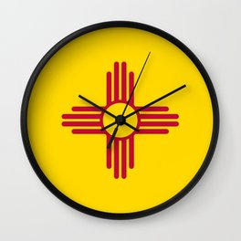 State flag of New Mexico - Authentic version Wall Clock