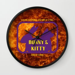 Bunny and Kitty Very Best Friends Wall Clock